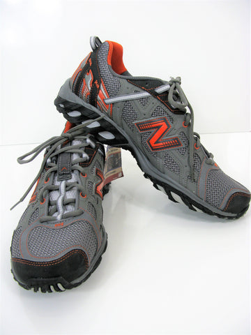 New Balance 625 Trail Running Shoe Gray With Orange Accents  NWOB / NWT