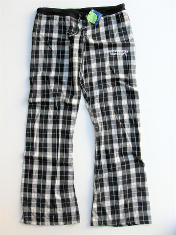 U-Trau Campus Plaid Flannel Pajama Bottoms Northwestern University XL NWT