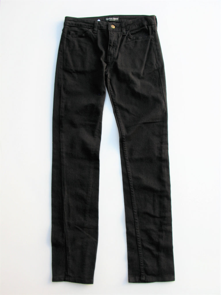 American Apparel Almost Black Stretch Skinny Jeans 25 NWT