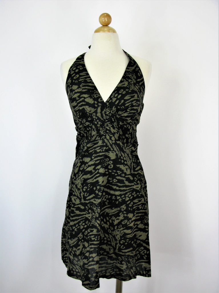 H&M Abstract Print Cotton Halter Dress NWT