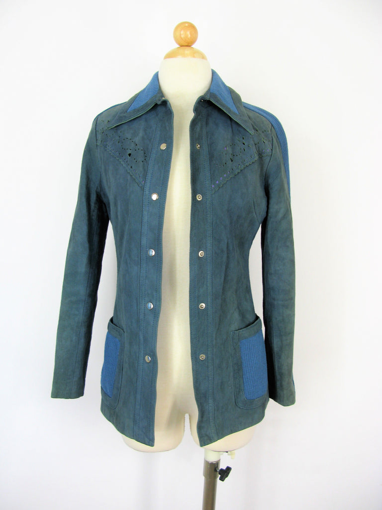 Vintage 70's Hong Kong World Knits Suede & Wool Jacket XS/S