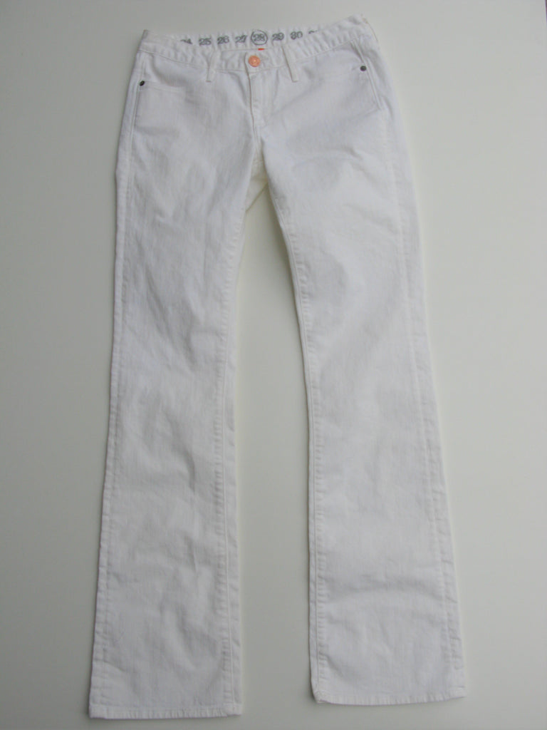 Earnest Sewn Light White Keaton Boot Cut Jean 28 NWOT