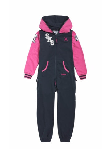 OnePiece Norwegian Norway Skater Kids Jumpsuit Blue/Raspberry 4/5 110 NWT