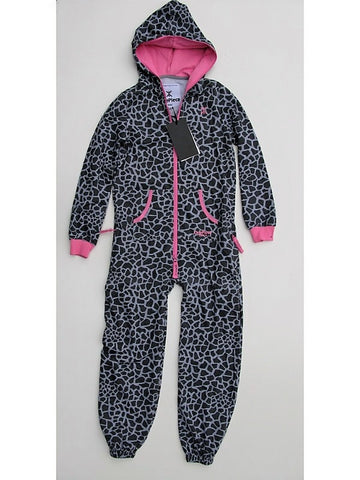 OnePiece Norwegian Norway Giraffe Kids Jumpsuit Grey Melange/Pink 8/9 134 NWT