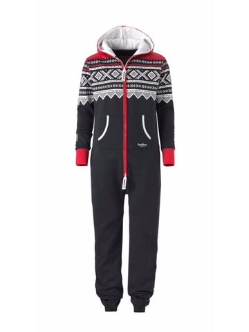 OnePiece Norwegian Norway Marius Onesie Jumpsuit Navy/Red/White NWT