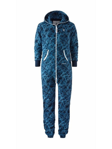 OnePiece Norwegian Norway Reach Jumpsuit Blue Printed L NWT