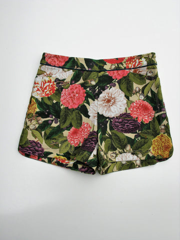 Elevenses High Waist Woven Ranunculus Bloom Shorts 4 NWOT