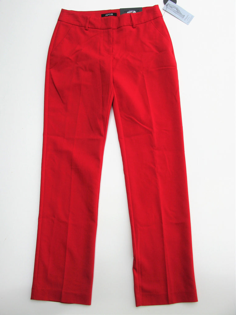 Apt 9 Straight Mid Rise Trouser Pants 2 NWT