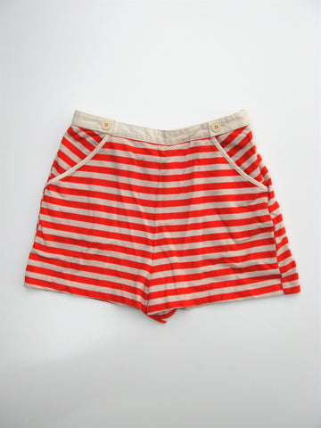 Urban Outfitters Cooperative Orange Striped High Waist Knit Shorts S