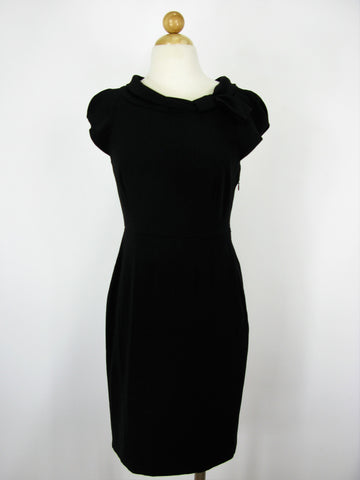 Banana Republic Black Crepe Cap Sleeve Career Dress 4P