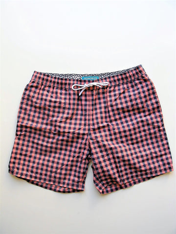 Swim Trunks Bonobos Laguna Print Yarn Dye Nagshead Gingham Check Board Short L