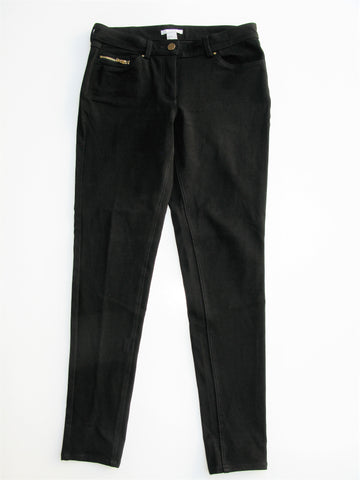 H&M Ponte Knit Black Skinny Jean Stretchy Jeggings 4