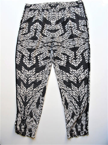 Silk Pants Joggers Diane Von Furstenburg Madison Printed Tapered Silk Trousers 14