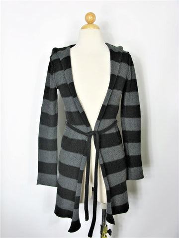 Duster Cardigan Striped Long Hooded GAP Cotton Cashmere Blend S