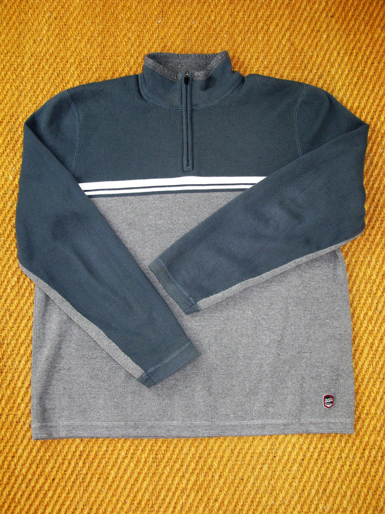 Eddie Bauer 1/4 Zip Pullover Cotton Knit Sweater L
