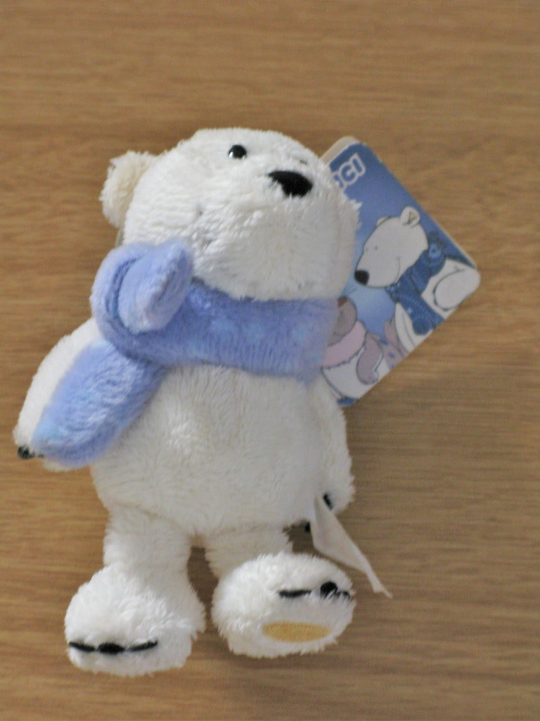 Nici 10cm Polar Bear Plush Keyring - ruby & sofia