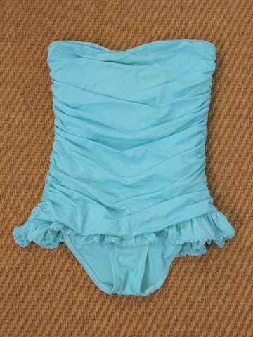 Juicy Couture Beach Royalty Ruched Strapless Swim Dress S