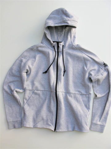 Adidas ID Stadium Full Zip Hoodie in Grey Heather M