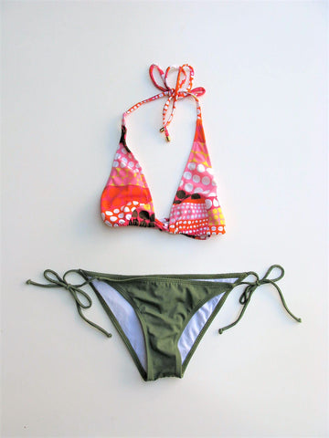 O'Neill String Bikini Bottoms X Milly Cabana String Bikini Triangle Top  XS / P