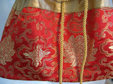 Red & Gold Chinese Silk Brocade Purse - ruby & sofia