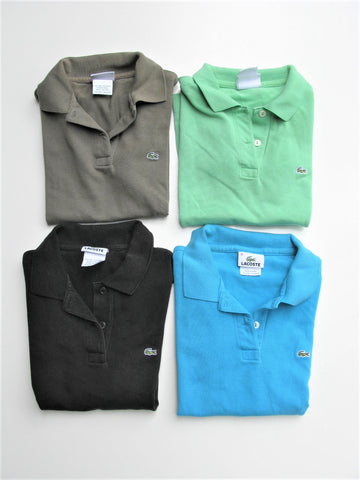 Lacoste Polo Shirts Lot of 4 - Stretch Cotton Piqué Polo - 36