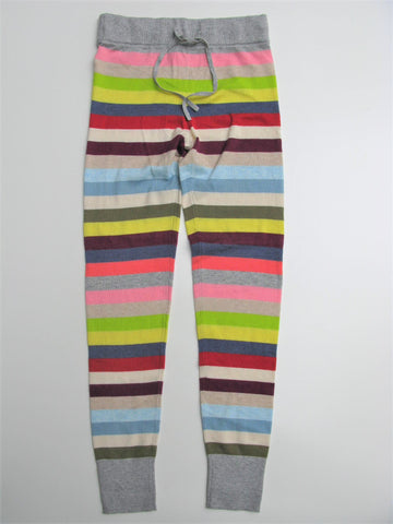 Gap Sweater Leggings Crazy Stripe Lounge Pants XS NWT