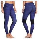 Athleta Relay Striped Tight Legging Purple XS