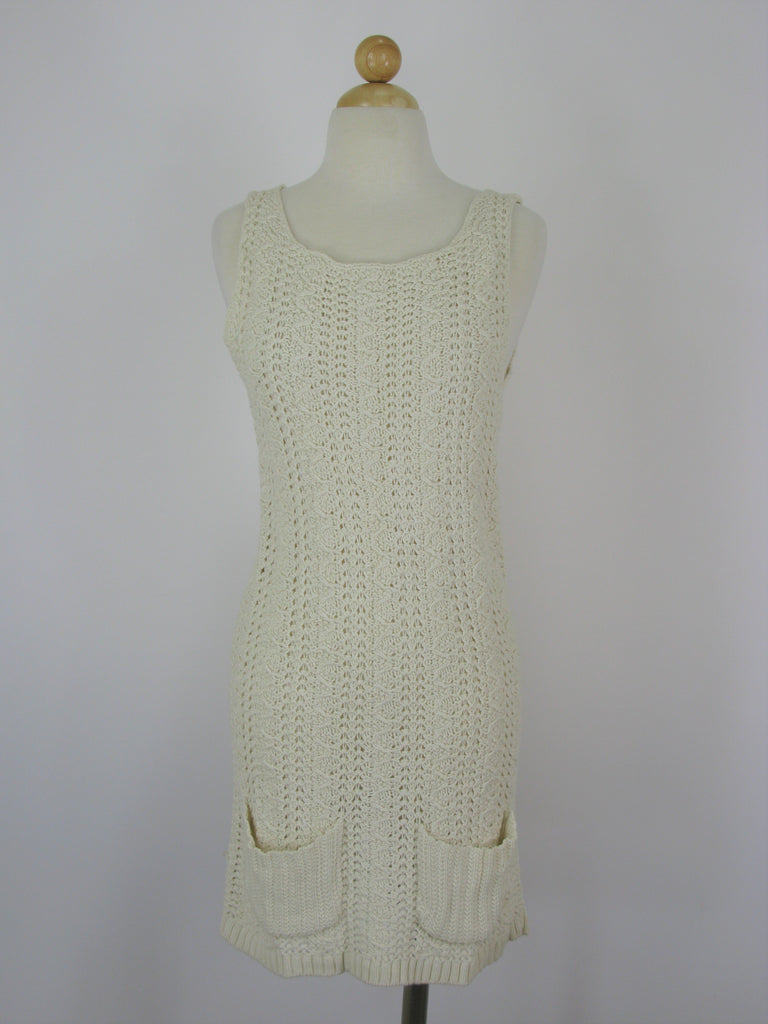 Anthropologie Far Away From Close Cotton/Wool Knit Tunic Dress M