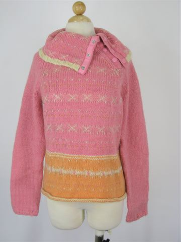 Gap Pink & Orange Mohair Winter Sweater Size L
