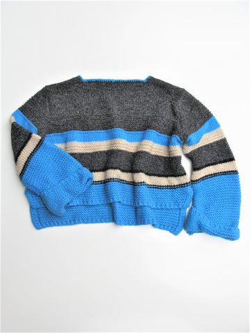 Plastic Island Chunky Knit Cropped Sweater