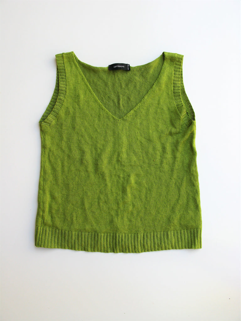 Cividini Made in Italy Silk & Steel Knit Sleeveless Top It 44  US 8/M