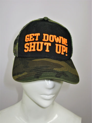 Bubba Gump Shrimp Co 'Get Down Shut Up' Camo Trucker Hat