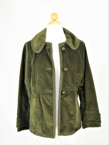 Marc Jacobs Corduroy Olive Green Princess Jacket 6