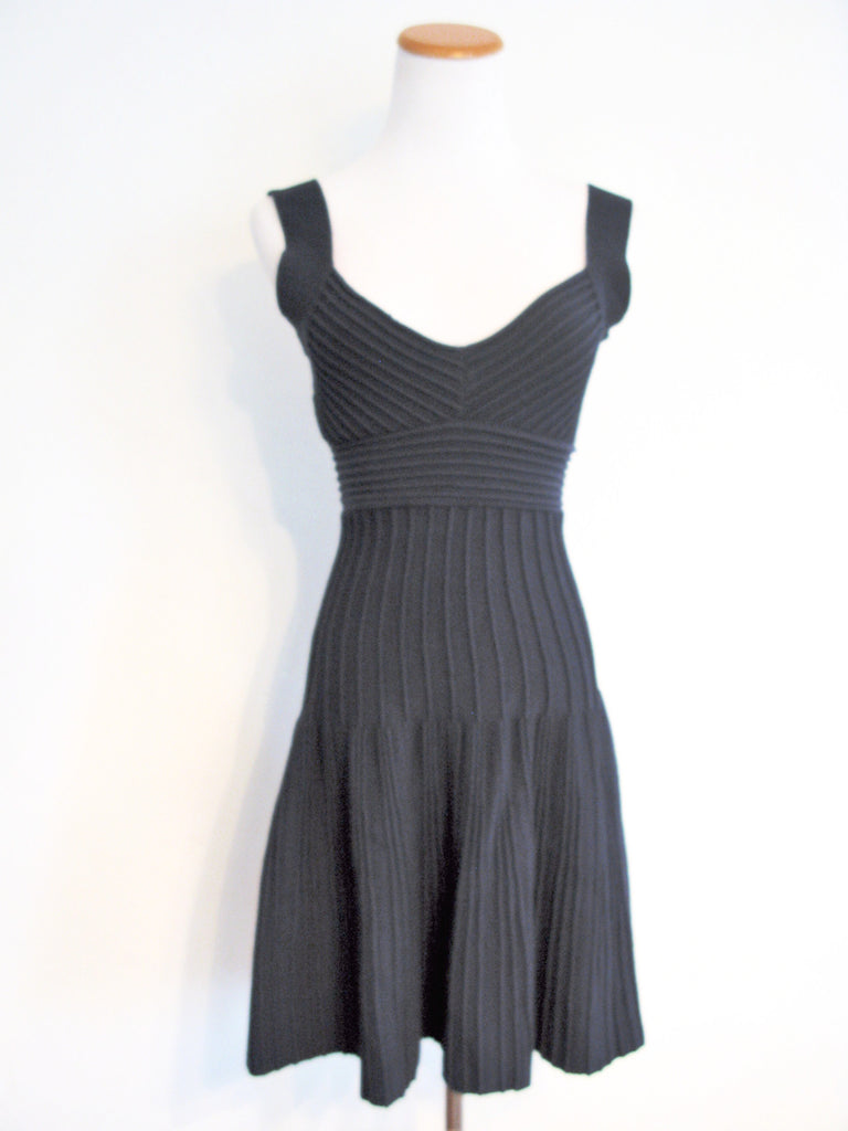 Brazilian Intuicao Boutique Ribbed Fit & Flare Dress M - ruby & sofia