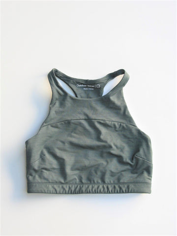Outdoor Voices TechSweat Crop Top in Evergreen S