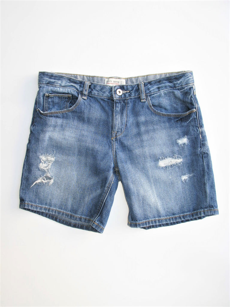 Z1975 Denim Zara Basic Dept Bermuda Jean Shorts S