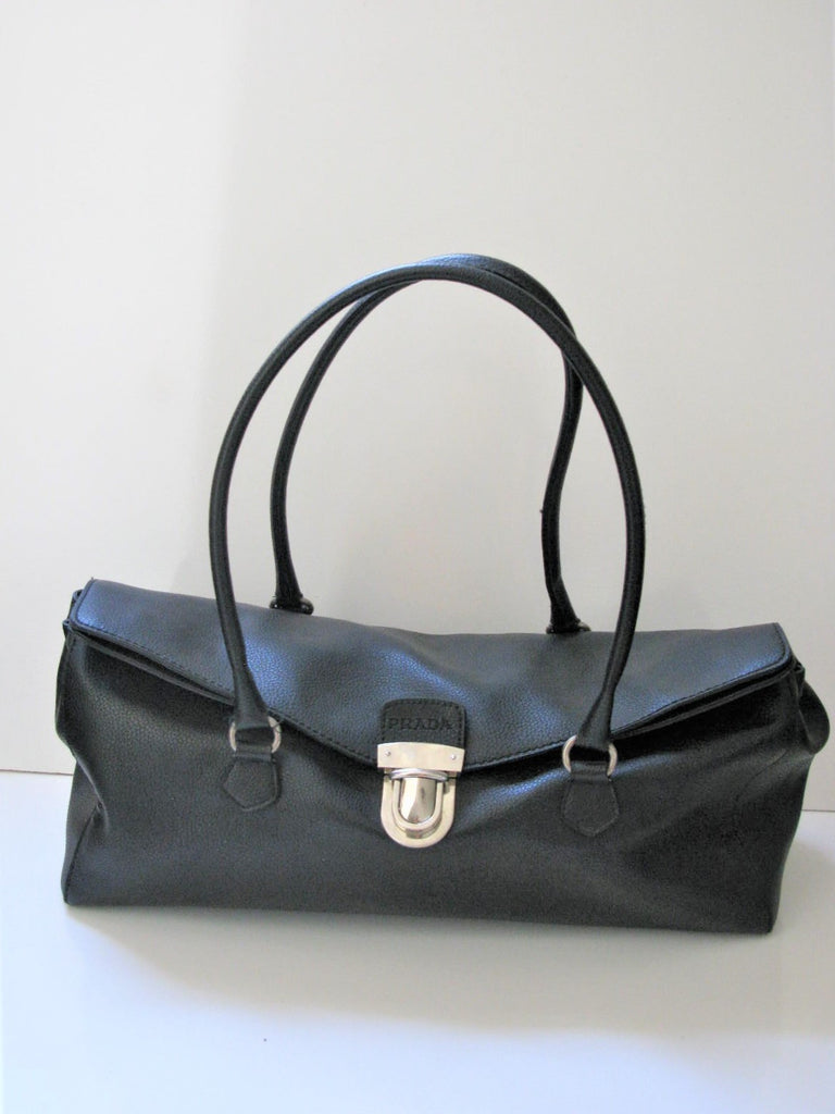 Large Black Leather Handbag