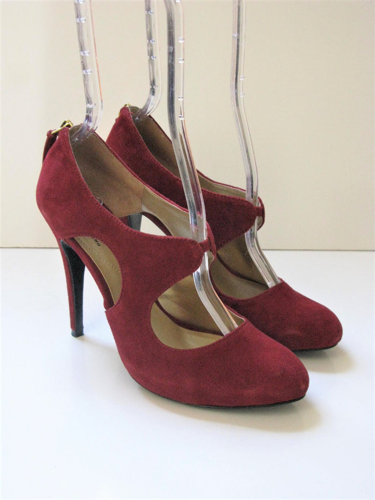 Guess Leather Suede Mary Jane Platform Heels