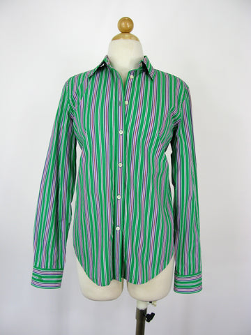 Lauren Ralph Lauren Button Down Striped Crisp Cotton Shirt S/P