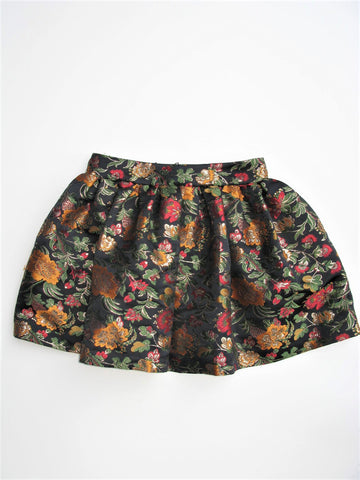 Alice & Olivia JACK BOX PLEAT Brocade circle SKIRT