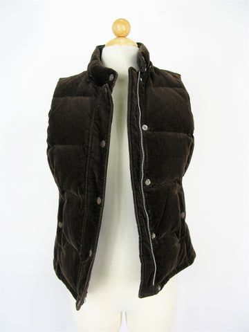 Gap Quilted Corduroy Snap Front Down Filled Vest XS