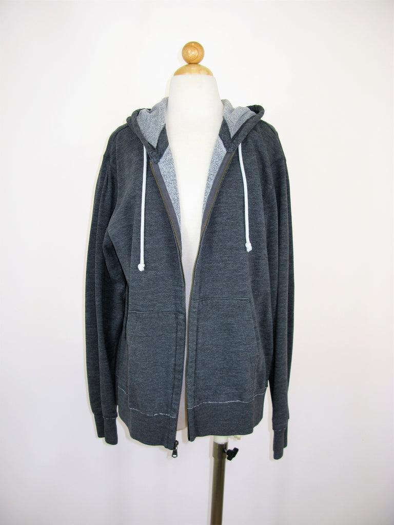 Gap Grey Zip Hoodie Sweatshirt Jacket L