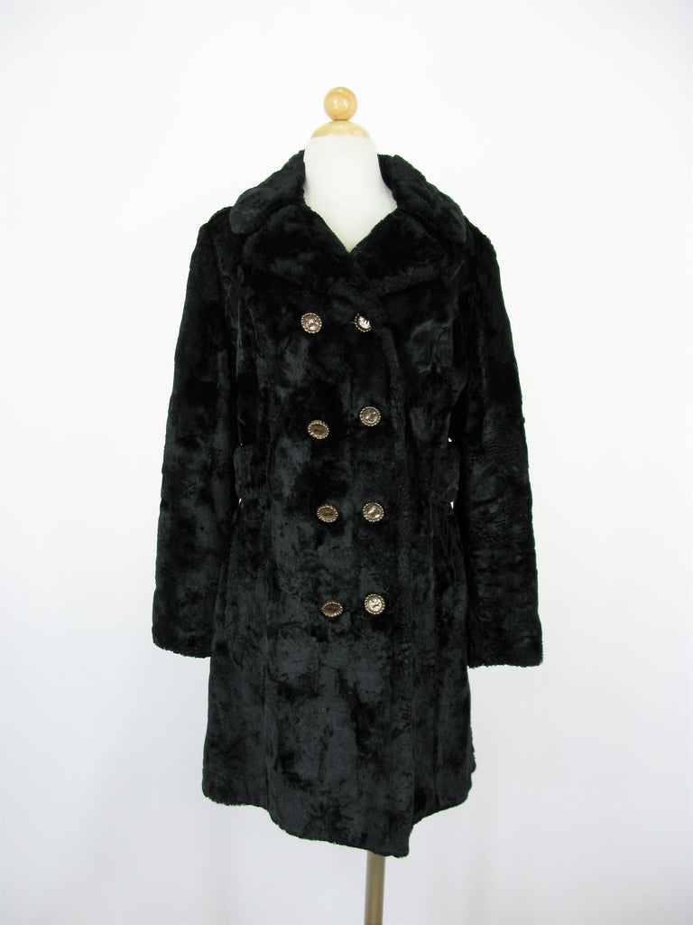 Vintage Plush Crushed Velvet Evening Overcoat 12