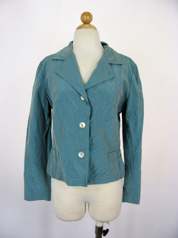 Hella-Barbara Rank Silk Taffeta Blazer Jacket 4/6