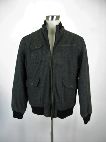 Urban Behavior Wool Military Bomber Moto Jacket XL