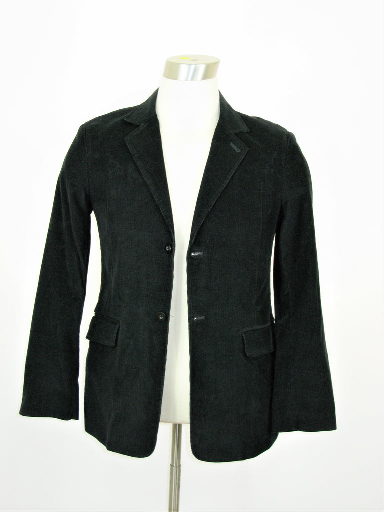 DKNY Jeans Midnight Black Corduroy Blazer Jacket S