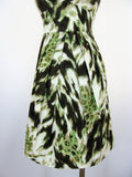 Banana Republic Fit & Flare Abstract Animal Print Dress 00P