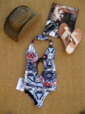 Insight 'The Jeddah' Tribal Pop One-Piece Swimsuit S/M NWT