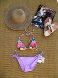 O'Neill Painted Deep Plunge Bikini Top XS