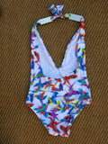 Mileti Plunging Halter One Piece Swimsuit NWOT - ruby & sofia